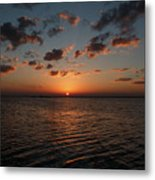 Cancun Mexico - Sunset Over Cancun Metal Print