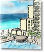 Cancun Royal Sands Metal Print
