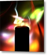 Candle And Colors Metal Print