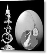 Candle And Egg Metal Print