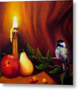 Candle Light Melody Metal Print