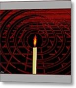 Candle Of Faith And Hope Metal Print