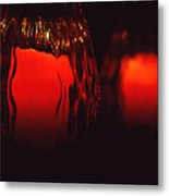 Candle Reflected Metal Print