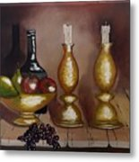 Candle Sticks Metal Print