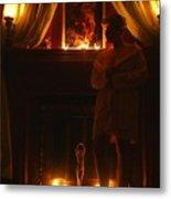 Candlelight Glow Metal Print