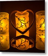 Candlelight Love Metal Print