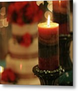 Candles And Cake Metal Print