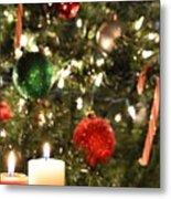 Candles For Christmas 2 Metal Print