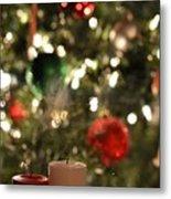Candles For Christmas 4 Metal Print