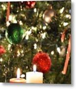 Candles For Christmas 5 Metal Print