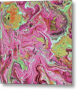 Candy Coated- Abstract Art By Linda Woods Metal Print