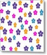 Candy Flower Bright Metal Print
