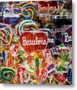 Candy Stand - La Bouqueria - Barcelona Spain Metal Print
