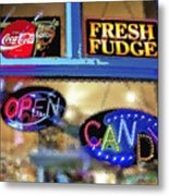 Candy Store Window Metal Print
