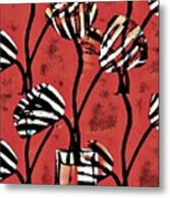 Candy Stripe Tulips 2 Metal Print