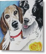 Canine Friends Metal Print