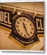 Cannes - Market Clock  Metal Print