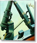 Cannon And Anchor Metal Print