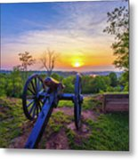 Cannon At Sunset Metal Print