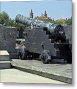 Cannon At The Castillo Metal Print
