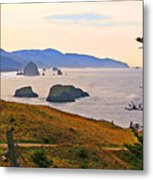 Cannon Beach From Ecola State Park Metal Print