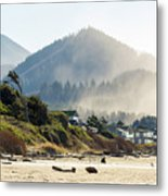 Cannon Beach Oceanfront Vacation Homes Metal Print