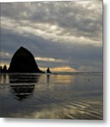 Cannon Beach Reflections Metal Print