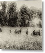 Cannon Fire At Gettysburg  Metal Print