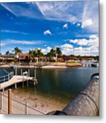 Cannon Over Water Metal Print