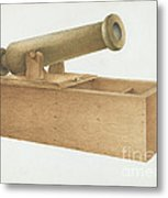 Cannon-shaped Ballot Box Metal Print