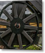 Cannon Wheel Metal Print