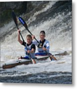 Canoe Action Metal Print by Joe Houghton