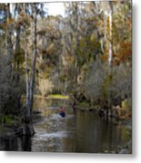 Canoeing In Florida Metal Print