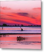 Canoeing On Color Metal Print
