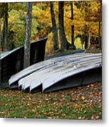 Canoes And Boats Ashore Metal Print
