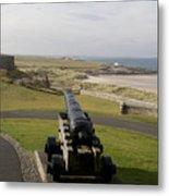 Canon Defends Bamburgh Castle Metal Print