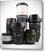 Canon Lenses Metal Print