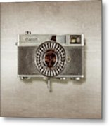 Canonete Film Camera Metal Print