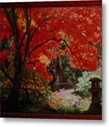 Canopy Of Red Metal Print