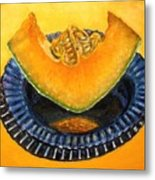 Cantaloupe Oil Painting Metal Print