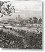 Canterbury, Kent, England Seen From Metal Print