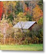 Cantilever Barn - Autumn Metal Print