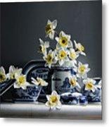 Canton With Daffodils Metal Print