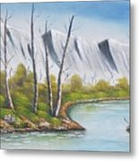 Winter Season - Mountains Metal Print