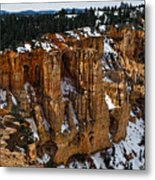 Canyon Alcoves Metal Print