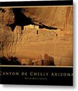 Canyon De Chelly Arizona Black Border Metal Print