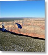 Canyon Edge Aerial Plateau Metal Print