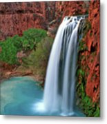 Canyon Falls Vertical Metal Print