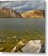 Canyon Lake Stormy Sky Metal Print