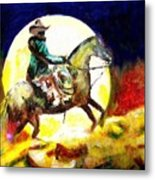 Canyon Moon Metal Print